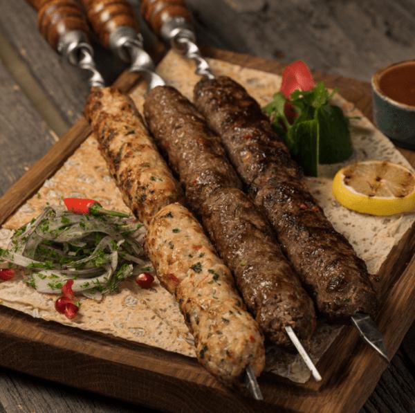 Кебаб из свинины и говядины